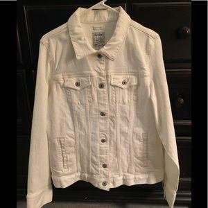 Vintage White Old Navy Denim Jean Jacket BNWT